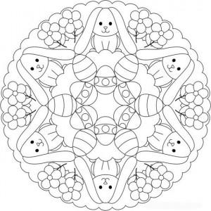 easter bunny mandala