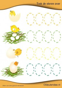 easter chick trace worksheet