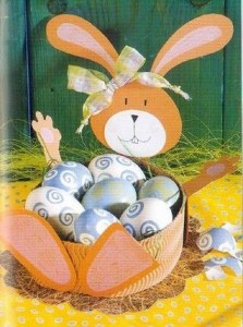 easter egg basket craft