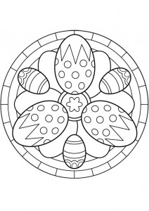 easter egg mandala coloring page