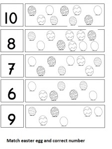 easter egg number worksheet