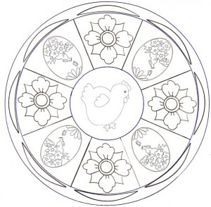 easter mandala coloring
