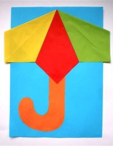 Umbrella Craft Idea For Kids