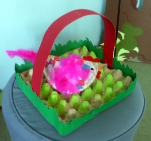 egg carton easter basket