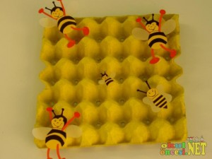 egg cartoon bee bulletin board
