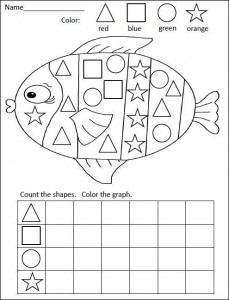 fish shape graph worksheet