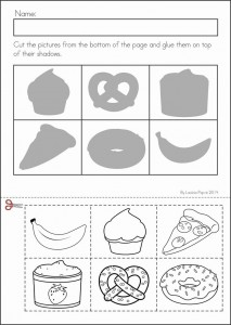food shadow worksheet