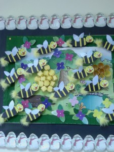 free bee bulletin board idea