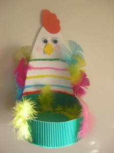 free easter egg basket craft (4)