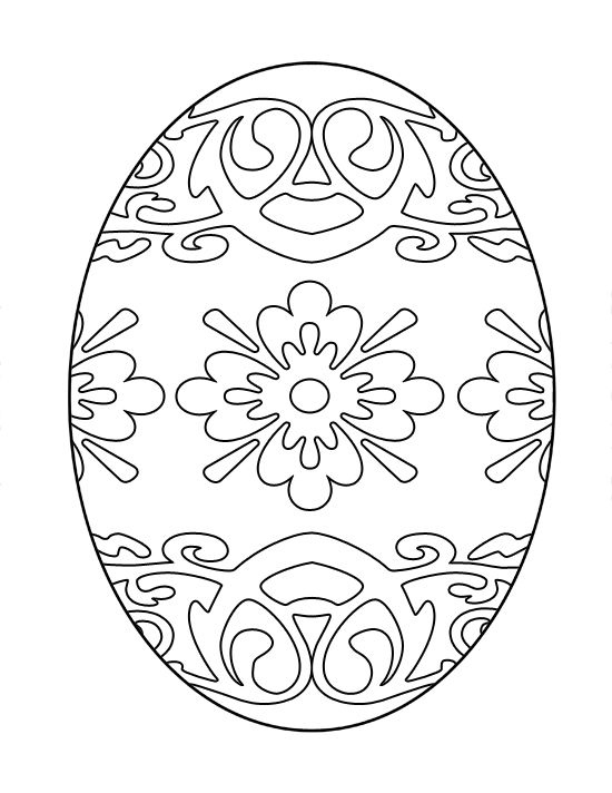 free printable easter egg coloring page (10) | Crafts and ...