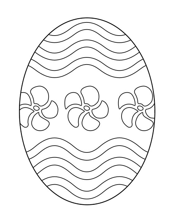 free printable easter egg coloring page (2) | Crafts and ...
