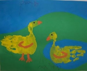 handprint duck craft