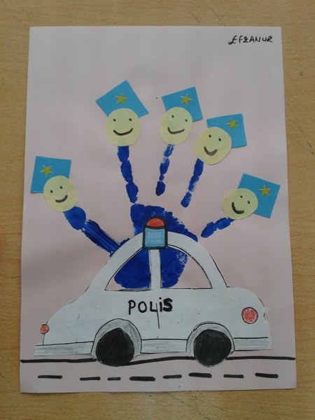handprint police craft