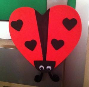 heart ladybug craft idea