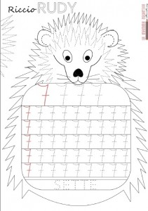 hedgehog number 7 trace worksheet