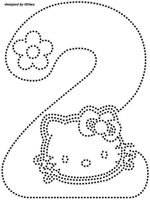 Hello kitty number trace worksheet for kids | Crafts and ...