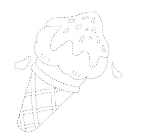 ice cream trace worksheet