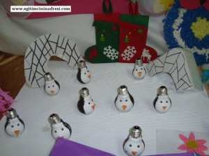 light bulb penguin craft