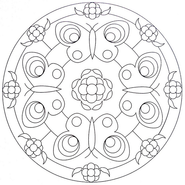 Mandala Coloring Pages Butterflies Crafts And Worksheets For