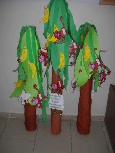 monkey and banana tree bulletin board