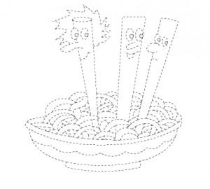 noodles trace worksheet