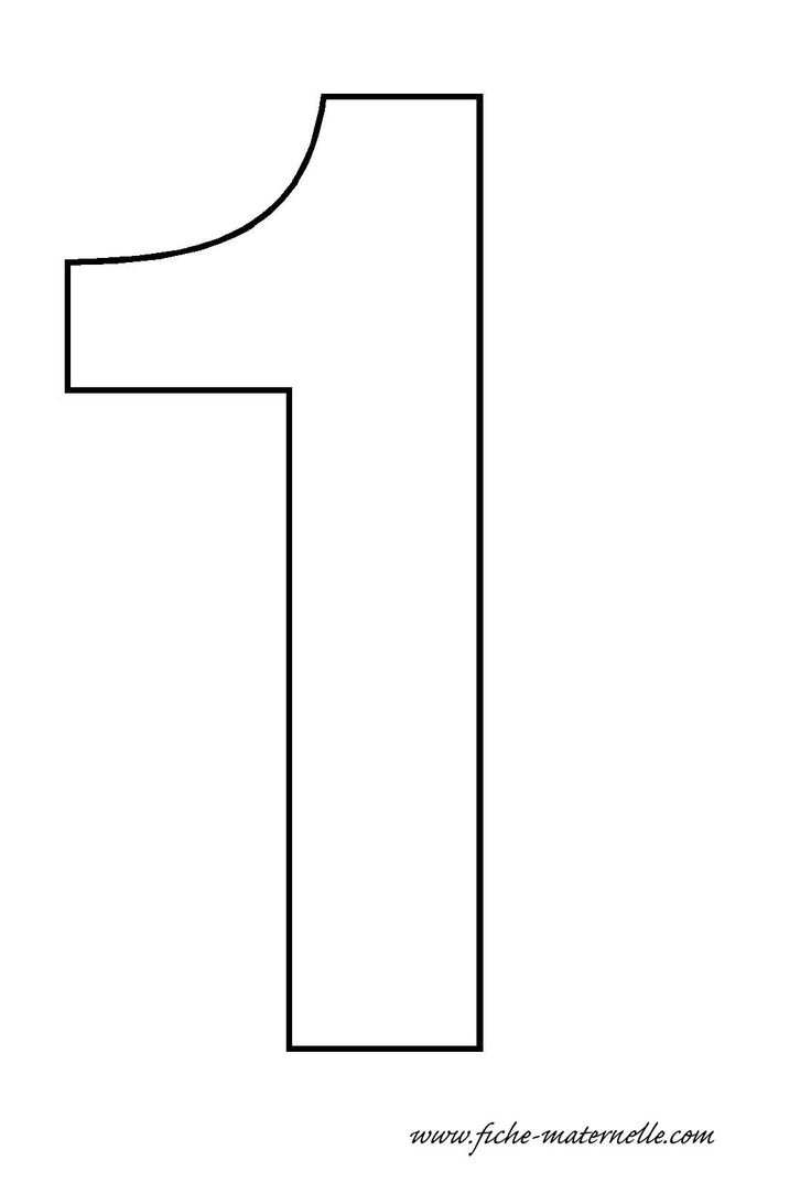 Number Template 1 - Bing images