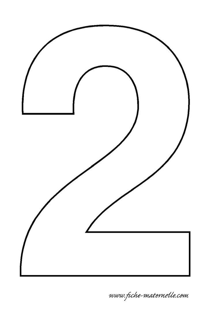 Number 2 coloring pages - Large Numbers For Use In Flashcards Coloring Pages