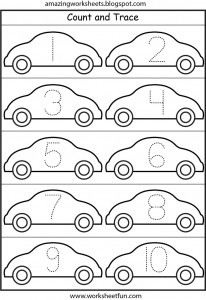 number tracing cars