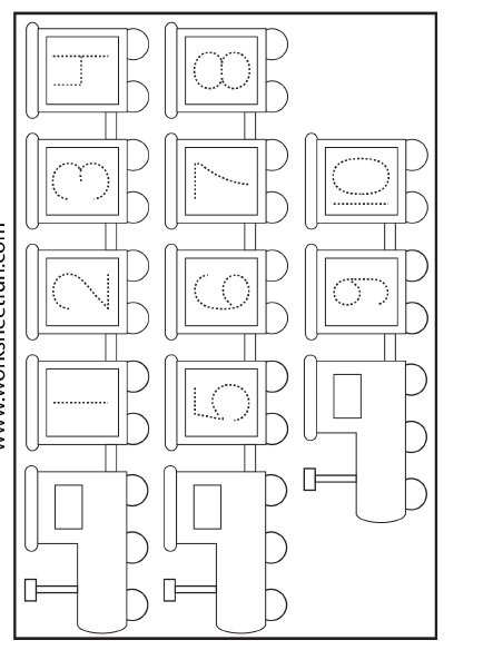Numbers Letters Worksheet