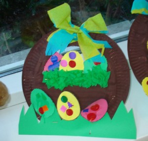 paper plate easter egg basket craft (2)