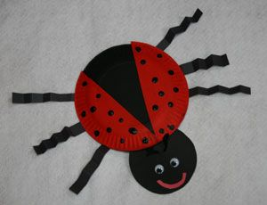 paper plate ladybug craft 1