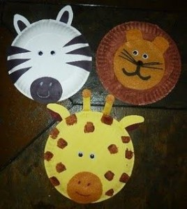paper plate zoo animal craft