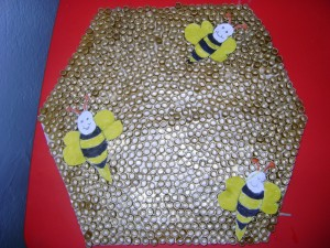 pasta bee bulletin board