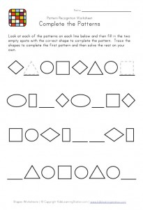 pattern recognition worksheet