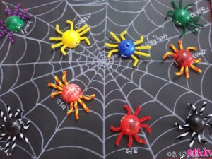 ping pong ball spider bulletin board