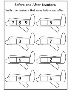 plane number worksheet