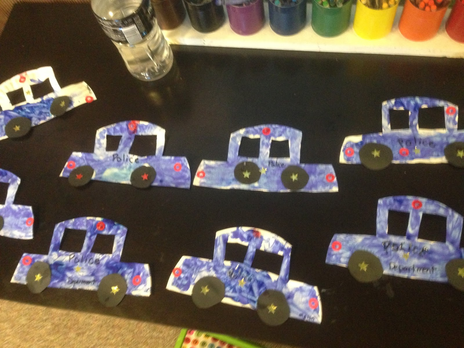 Police Car Craft For Preschoolers
