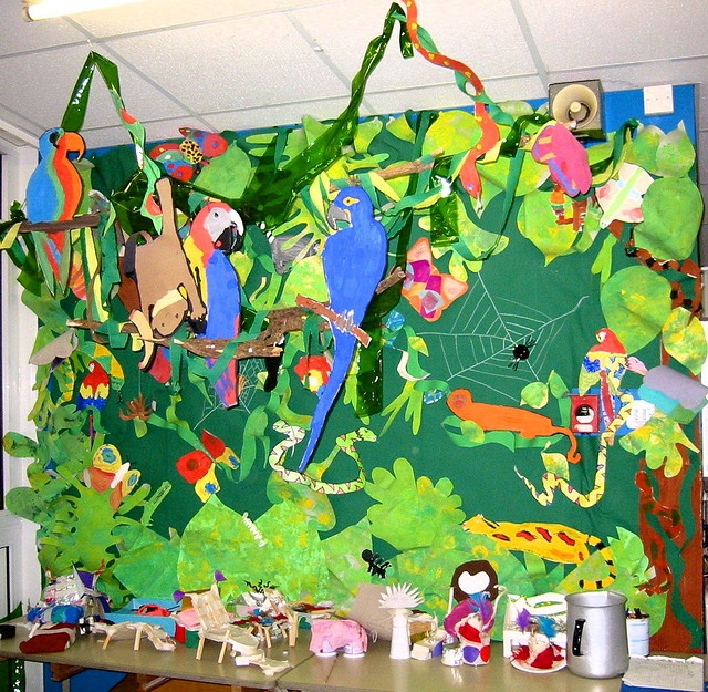 This page has a lot of free Rainforest bulletin board idea for kids ...