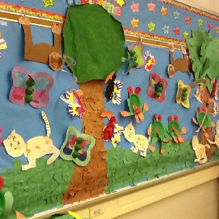 rainforest bulletin board idea for kids