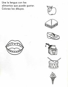 sense organs worksheet for preschool 3 | Crafts and ...