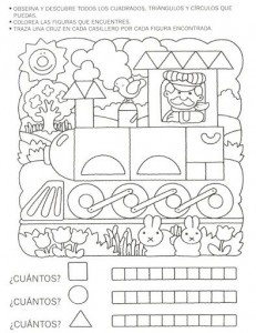 shape train worksheet