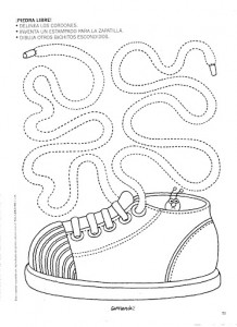shoes trace worksheet