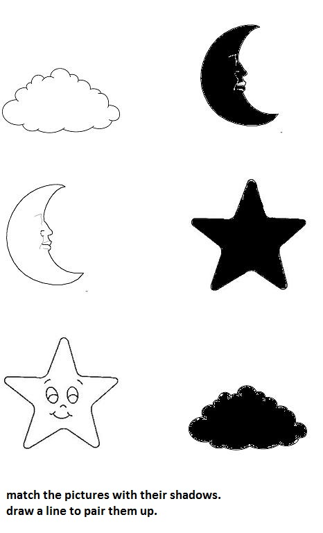 Sky Shadow Worksheet on Baby Animals Matching Printables