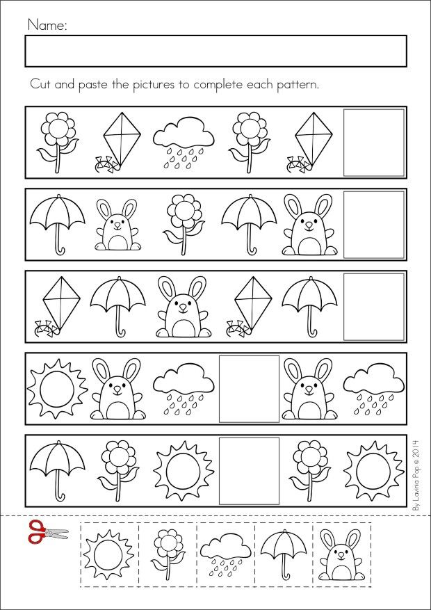Pattern worksheet for kids – Patterns Worksheets Kindergarten