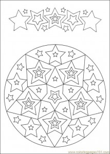 star mandala coloring