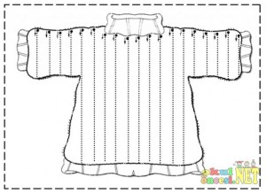 sweater trace worksheet for kids