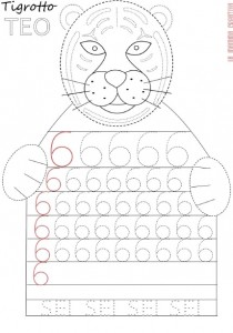 tiger number 6 trace worksheet