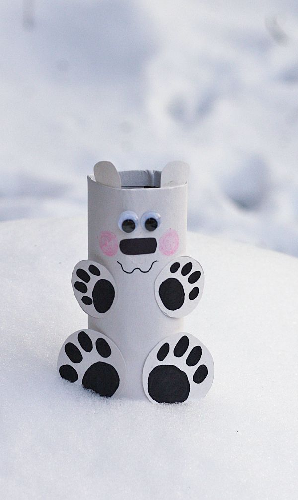 toilet paper roll Polar Bear Craft