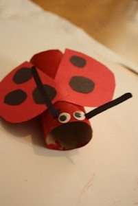 toilet paper roll ladybug