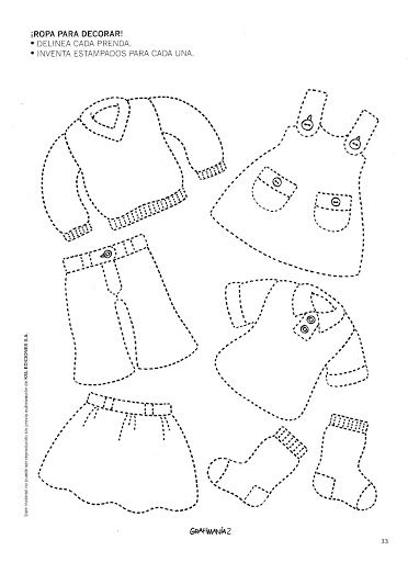 Trace Clothes Worksheet Crafts And Worksheets For Preschool Toddler And Kindergarten